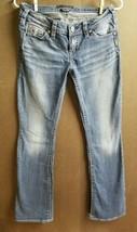 Silver Jeans Pioneer Rhinestone Western Medium Wash Womens W-27 x L-33 - $19.31
