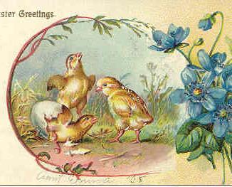 Easter Greetings Vintage 1906 Post Card