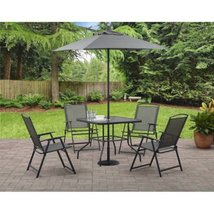 Outdoor Bistro Dining Set Patio Garden Yard Furniture 6 Piece Folding Um... - $159.98