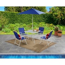 Outdoor Bistro Dining Set Patio Garden Yard Pool Furniture 6 Pc Folding ... - $159.98