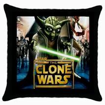 NEW Star war The Clone Wars Black Cushion Cover Throw Pillow Case - $281,89 MXN