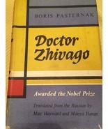 """DR. ZHIVAGO"" BY BORIS PASTERNAK HARDCOVER RED BOOK W/DJ, COPYRIGHT APRI... - $9.45"