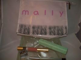 Mally Beauty 5 piece set  Mascara,Liquid  Lip, Eye Pencil & sharpener, Large Bag - $31.50
