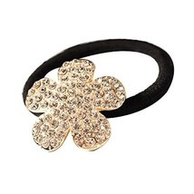 Set of 3 Hair Accessories Korea Style Hair Bands ( Flower Pattern, 3.3x3.3 cm )