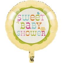 "Happi Tree Baby Shower Sweet Baby Owl Decor  18"" Foil Mylar Balloon - $2.96"