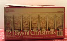 Vintage ANCHOR HOCKING 12 Days of Christmas 12.5 oz. TUMBLERS // DRINKIN... - $45.00