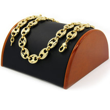 """Men's 14k Gold Plated 12mm 24"""" Round Byzantine Chain Heavy Hip Hop Style... - $25.73"""