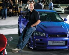 Paul Walker Photo 16x20 Canvas Blue Nissan Skyline Gt-R Fast And Furious Car - $69.99