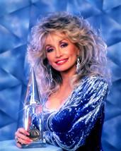 Dolly Parton 16x20 Canvas Giclee Holding Award Smiling - $69.99