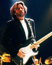 Eric Clapton 16x20 Canvas Giclee Moody Concert Photo Playing Guitar Dark Jacket - $69.99