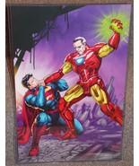 Stan Lee vs Superman Glossy Art Print 11 x 17 In Hard Plastic Sleeve - $24.99