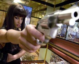 Alicia Keys Smokin Aces With Gun 16x20 Canvas Giclee - $69.99