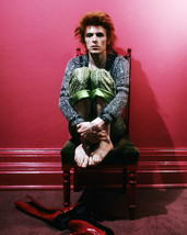 David Bowie 16x20 Canvas Giclee Barefoot In Chair Red Room - $69.99