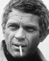 Steve Mcqueen Bullitt B&W 16x20 Canvas Giclee Cigarette Mouth - $69.99
