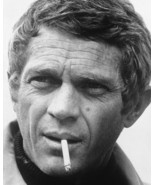 Steve Mcqueen Bullitt B&W 16x20 Canvas Giclee Cigarette Mouth - $69.99