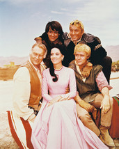 The High Chaparral Tv Cast Rare 16x20 Canvas Giclee - $69.99