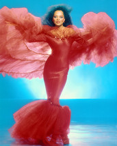 Diana Ross Full Length In Red Dress Color 16x20 Canvas Giclee - $69.99