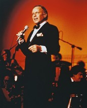 Frank Sinatra On Stage Singing Color 16x20 Canvas Giclee - $69.99