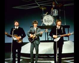 The Beatles Color Photo 16x20 Canvas Giclee On Stage Performing Iconic Classic - $69.99
