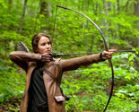 Jennifer Lawrence The Hunger Games 16x20 Canvas Giclee Firing Bow And Arrow