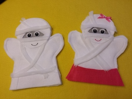 Mummie Boy and Girl Puppets - $11.99