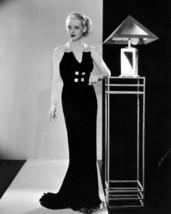 Bette Davis 16x20 Canvas Striking 1930'S Fashion B/W Pose By Art Deco Lamp - $69.99