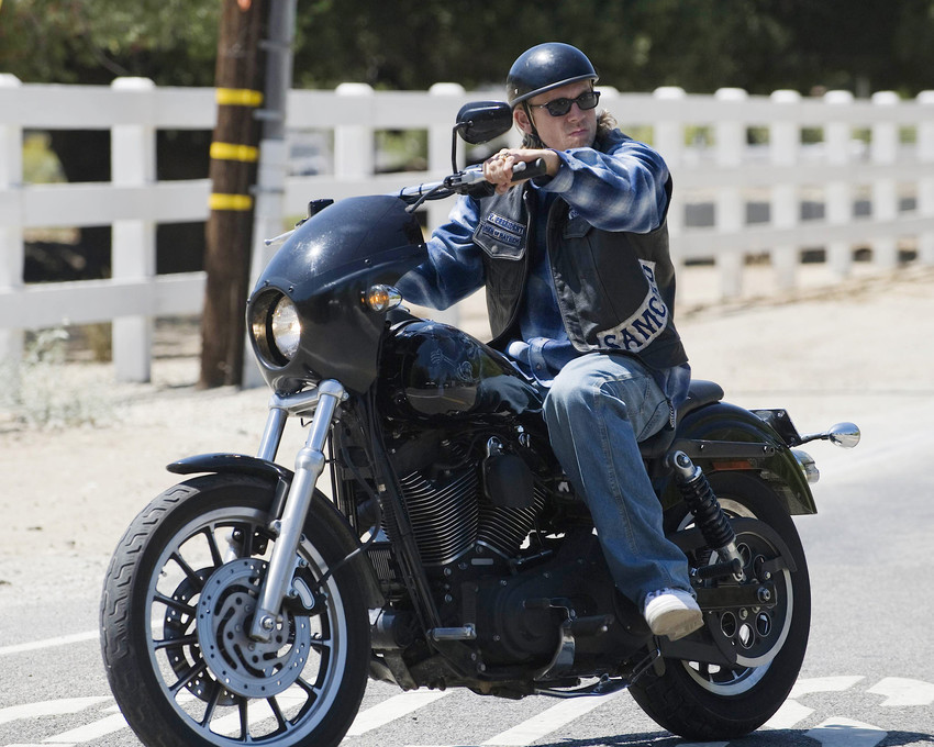 Primary image for Sons Of Anarchy Charlie Hunnam 16x20 Canvas Giclee On Motorbike