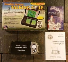 Double Screen Talking Golf By Excalibur Electronics Handheld Game LCD Toy - $9.89