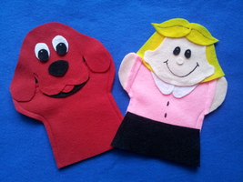 Clifford the Dog and Emily Hand Puppets - $11.99