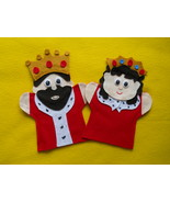 King and Queen Hand Puppets - $11.99