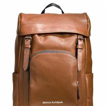 $695 NWT COACH DARK SADDLE  Men's Henry In Pebble Leather Backpack F72311  - $335.00