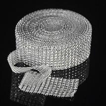 """Rhinestone Sparkle 1.58""""x60 FT Diamond Wraps Ribbon Wedding Party Decor Supplies - $11.26"""