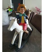 Extremely Rare! Walt Disney Pinocchio Sitting on Hobbyhorse Figurine Statue - $366.30