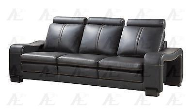 American Eagle  AE210-B Sofa Loveseat and Chair Contemporary Modern Leather 6pcs