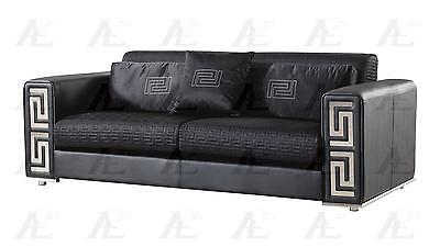 American Eagle AE223-BK Sofa Loveseat and Chair Contemporary Modern Leather 3pcs