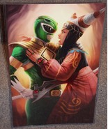 Green Ranger vs Rita Repulsa Glossy Art Print 11 x 17 In Hard Plastic Sl... - $24.99