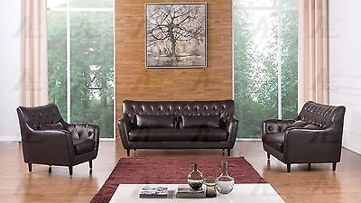American Eagle AE346-DC Sofa Loveseat and Chair Contemporary Modern Leather 3pcs