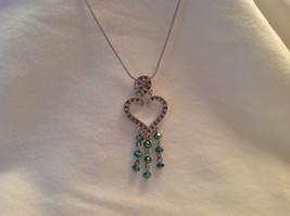 New NWT Annaleece Lighthearted Rhodium Silver Heart Indian Sapphire Blue Zircon - $59.39