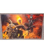Ghost Rider vs Spawn Glossy Art Print 11 x 17 In Hard Plastic Sleeve - $24.99