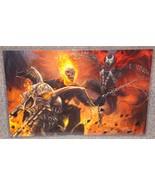 Ghost Rider vs Spawn Glossy Art Print 11 x 17 In Hard Plastic Sleeve - $24.99