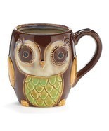 Coffee Mug Owl 12 Ounce Cup Porcelain Chocolate... - $14.84
