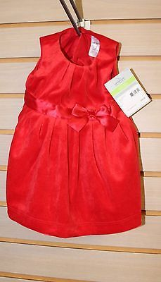 NEW CARTER'S VELVET RED DRESS FOR GIRLS 3 MONTHS W MATCHING POPLIN BLOOMERS CUTE