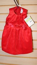 NEW CARTER'S VELVET RED DRESS FOR GIRLS 3 MONTHS W MATCHING POPLIN BLOOM... - $9.74