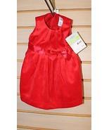 NEW CARTER'S VELVET RED DRESS FOR GIRLS 3 MONTHS W MATCHING POPLIN BLOOM... - $9.74
