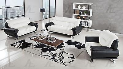 American Eagle  AE388-IV Sofa Loveseat and Chair Contemporary Modern Leather 3pc