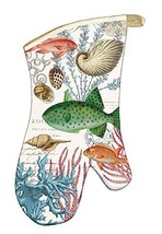 Michel Design Works Padded Cotton Oven Mitt, Sea Life - $14.55