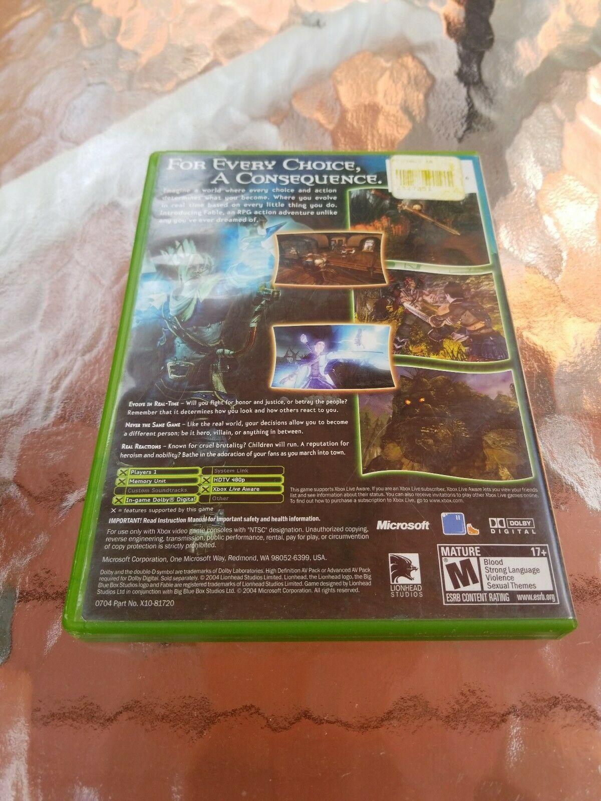 Fable (Microsoft Xbox, 2004) CIB image 2