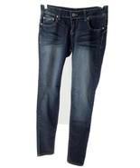 Blue Asphalt Womens Size 11Jeans Dark Wash Whiskered Slim Shading Stretchy - $23.36