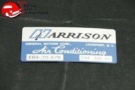 67 Harrison Ac Evaporator Box Decal Impala Nova GM/CHVY Truck Chevelle - $22.60