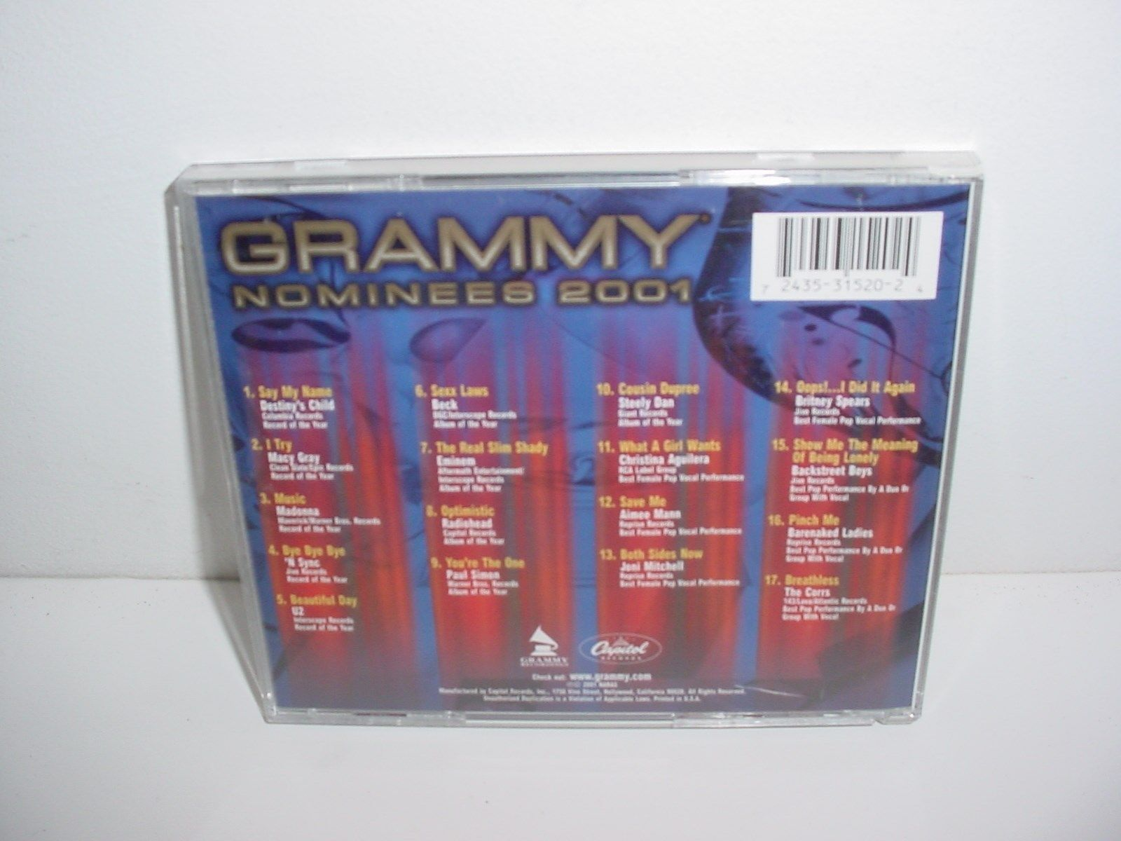 Grammy Nominees 2001 by Various Artists CD Music